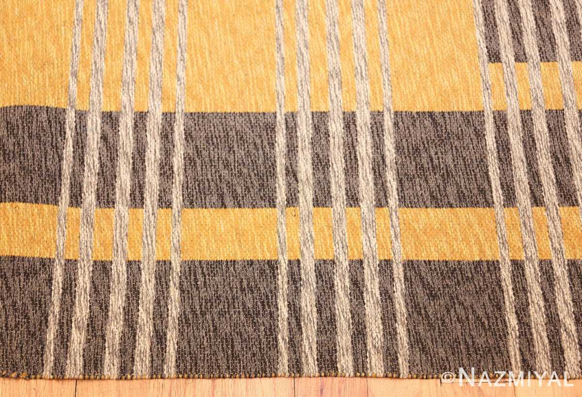 vintage double sided swedish kilim 48291 side Nazmiyal