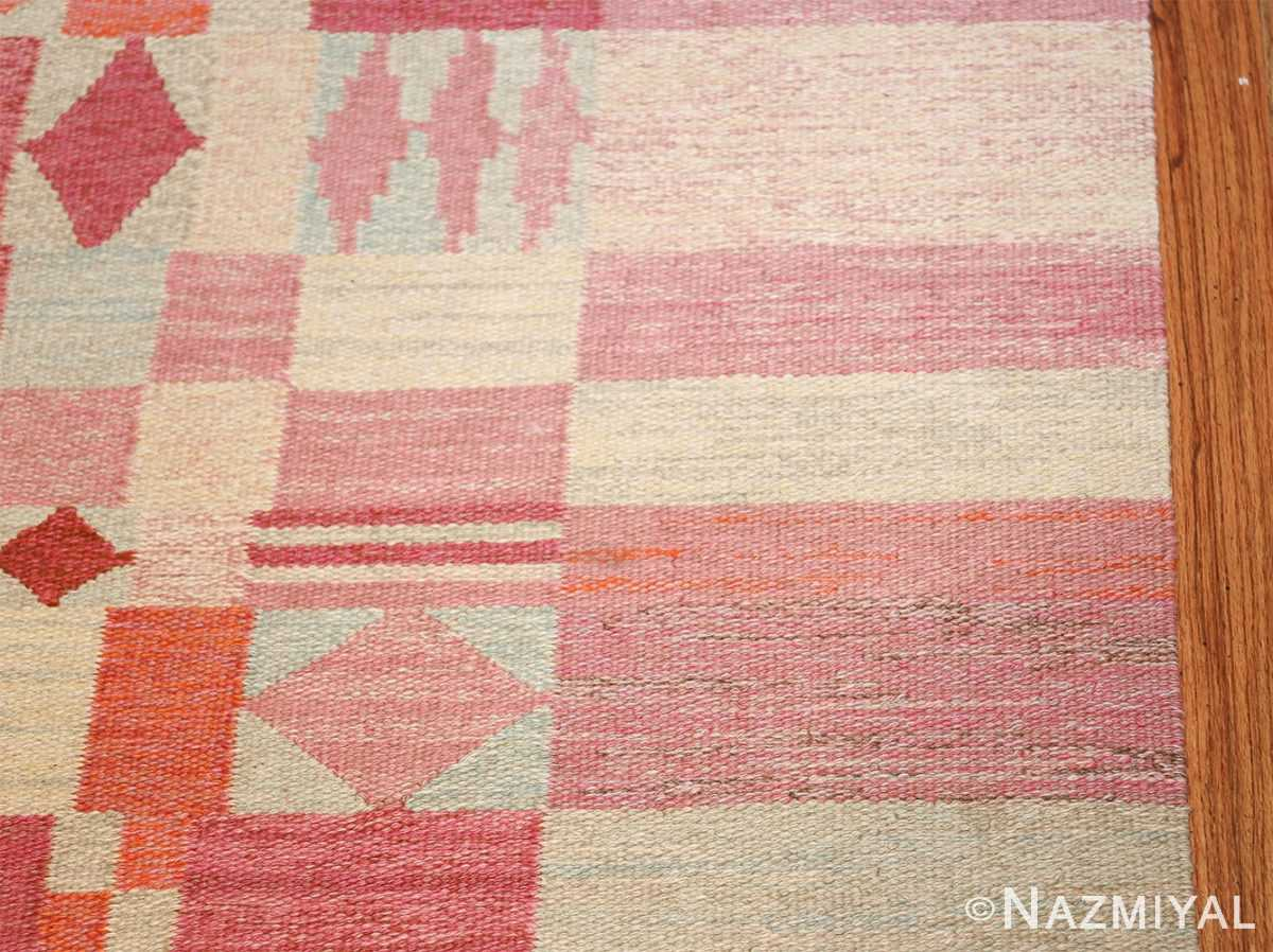 vintage scandinavian swedish kilim 48333 border Nazmiyal