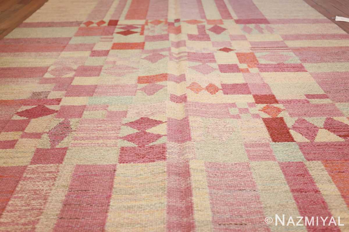 vintage scandinavian swedish kilim 48333 field Nazmiyal