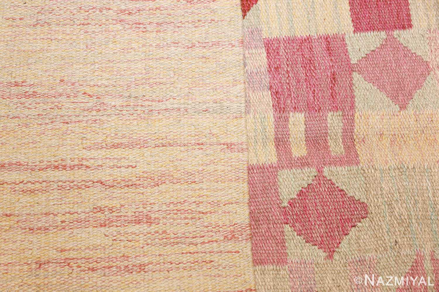 vintage scandinavian swedish kilim 48333 knots Nazmiyal