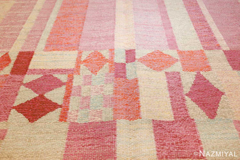 vintage scandinavian swedish kilim 48333 lines Nazmiyal