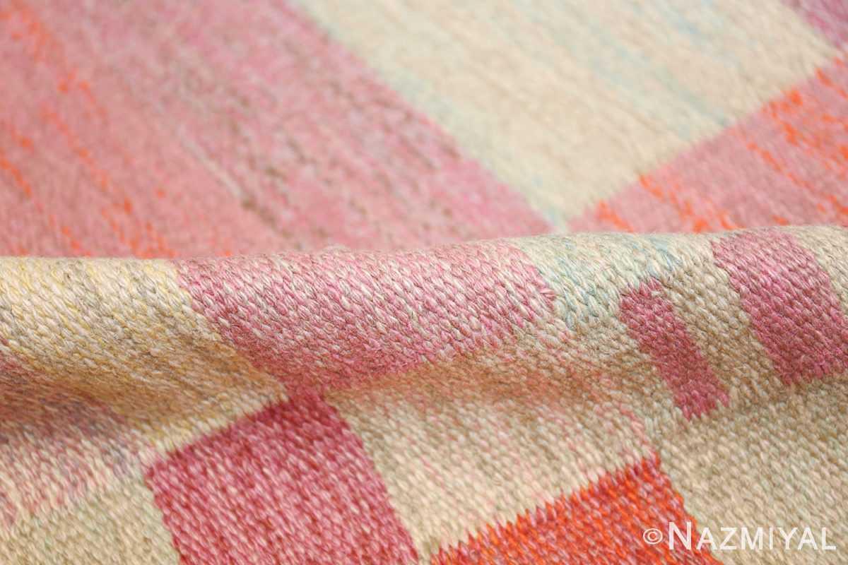 vintage scandinavian swedish kilim 48333 pile Nazmiyal