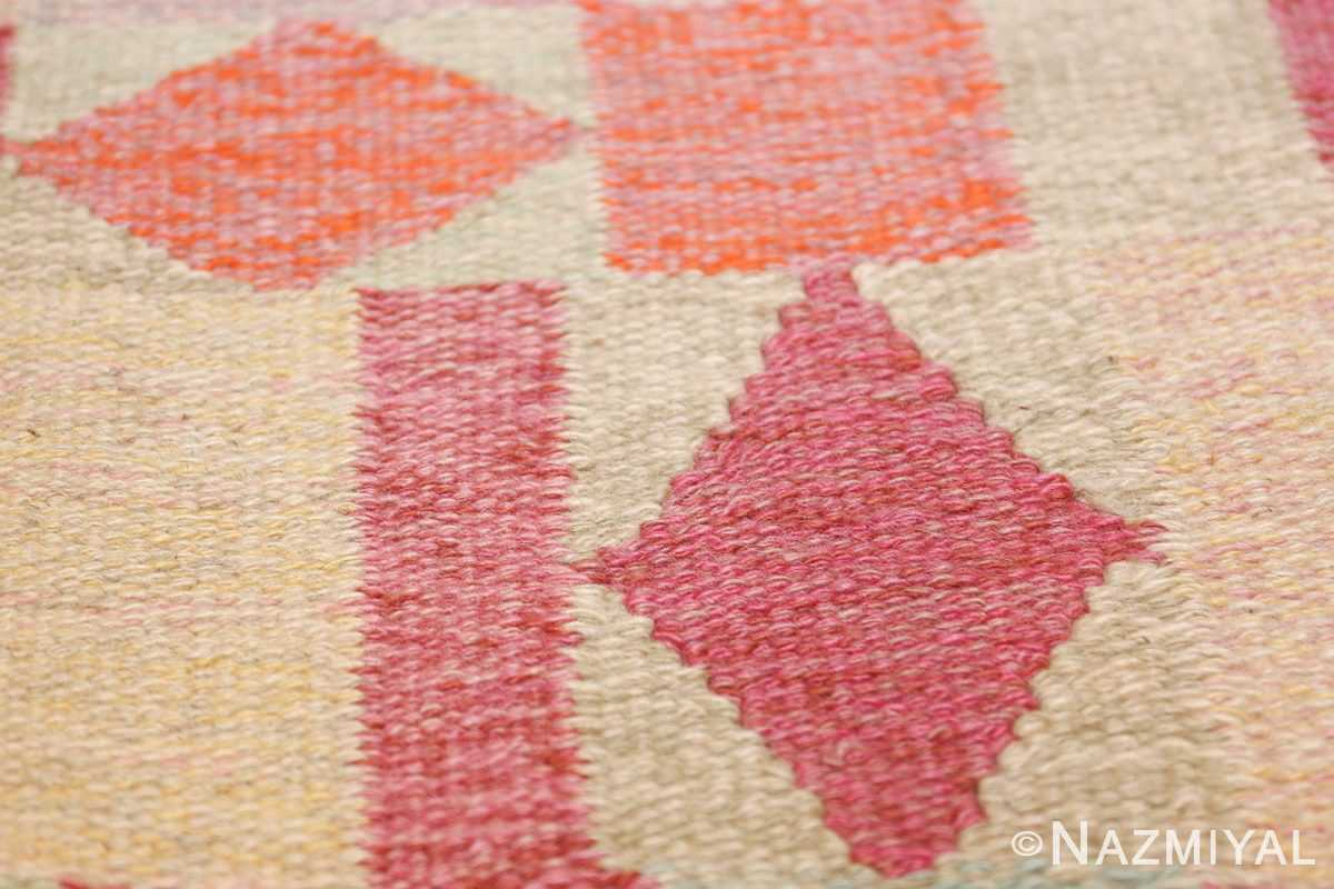 vintage scandinavian swedish kilim 48333 texture Nazmiyal