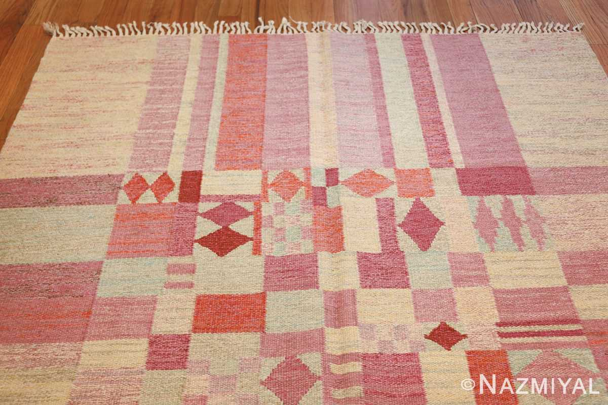 vintage scandinavian swedish kilim 48333 top Nazmiyal