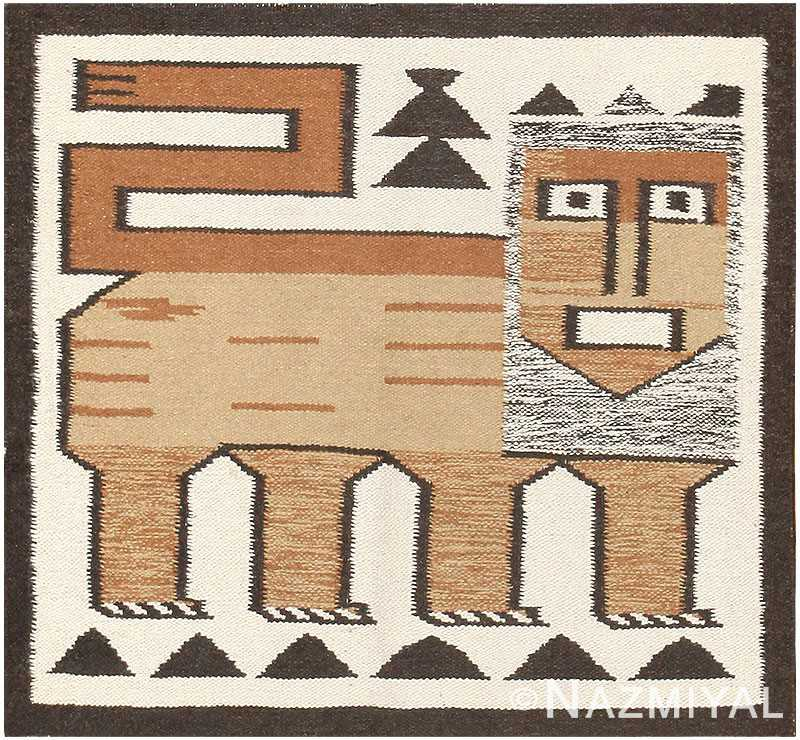 Vintage Scandinavian Swedish Kilim 48336 Detail/Large View