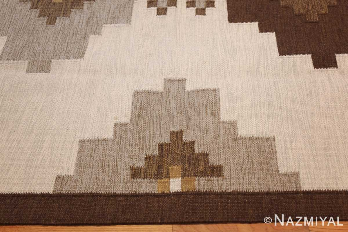 vintage swedish kilim 48286 border Nazmiyal