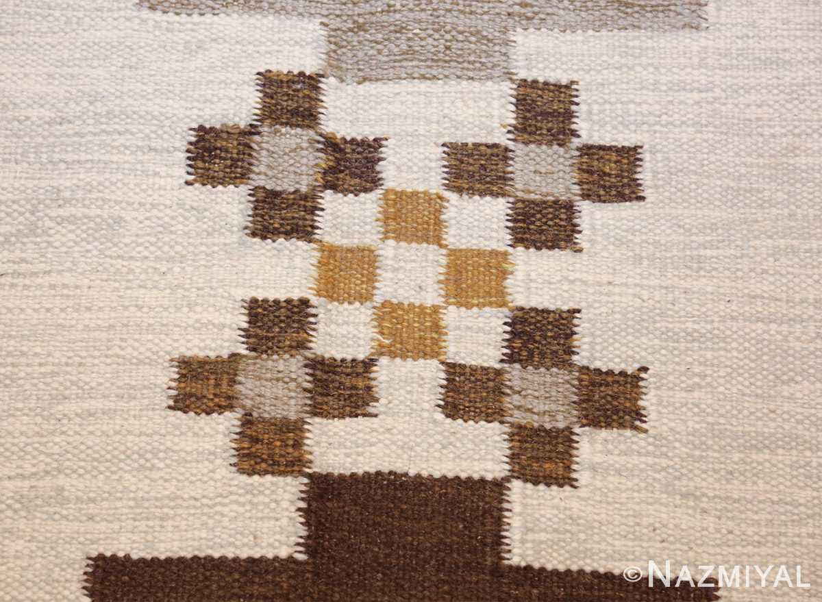 vintage swedish kilim 48286 flowers Nazmiyal