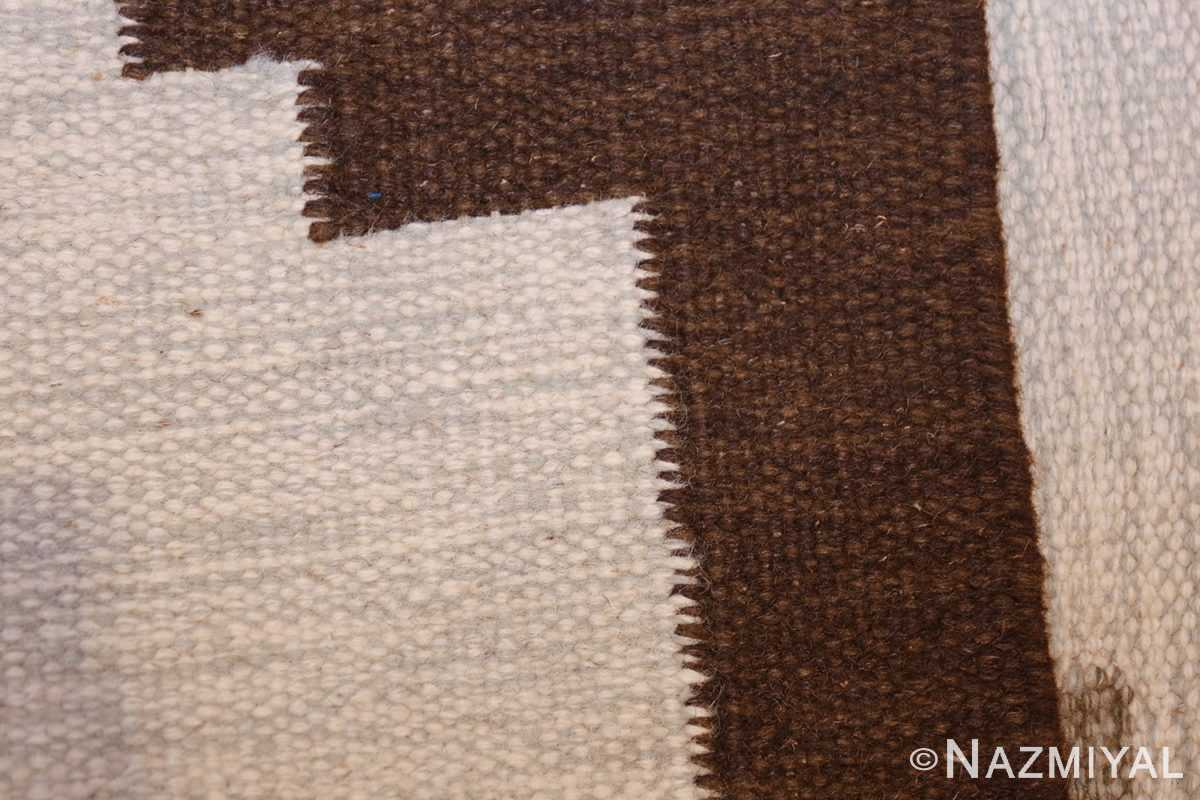 vintage swedish kilim 48286 weave Nazmiyal