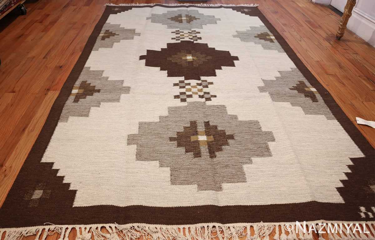 vintage swedish kilim 48286 whole Nazmiyal
