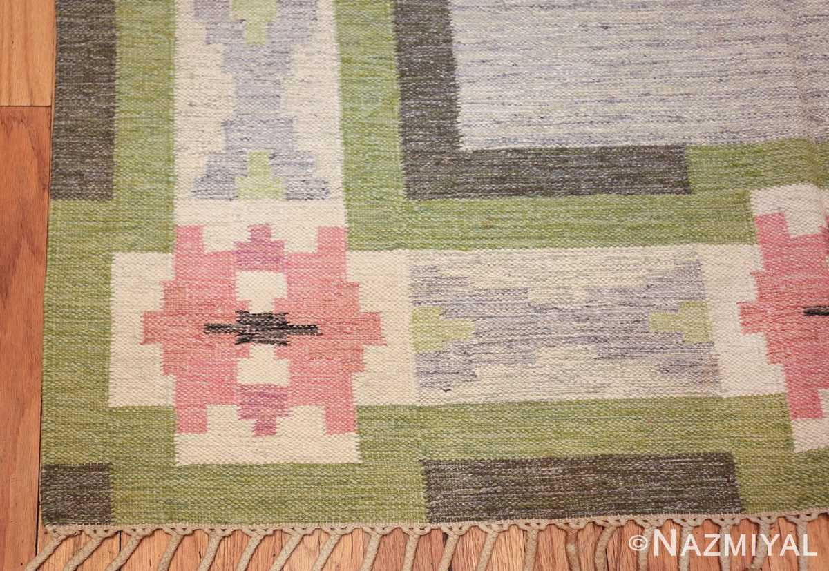 vintage swedish kilim by ingegerd silow 48335 corner Nazmiyal