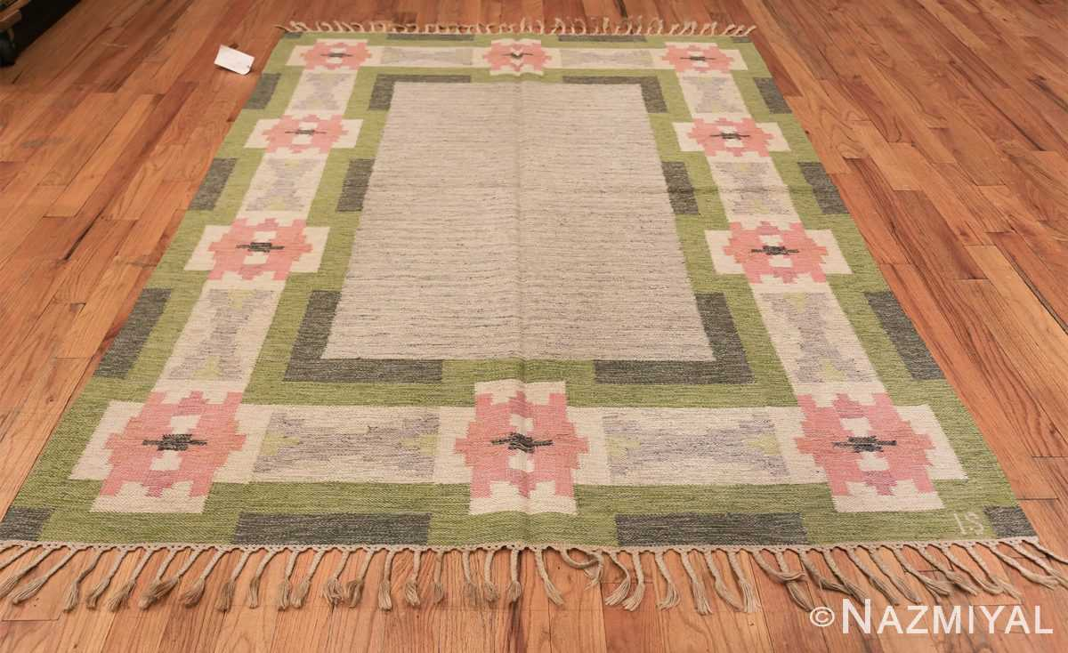 vintage swedish kilim by ingegerd silow 48335 whole Nazmiyal