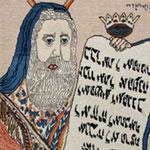 Judaic Motifs in Antique Persian Tabriz Rug 42058 by Nazmiyal