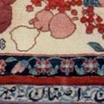 Kufic Motif in Vintage Persian Esfahan Rug 43387 by Naszmiyal