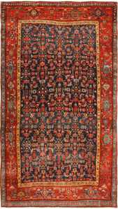 Blue Antique Bidjar Persian Rug 41997 by Nazmiyal