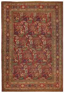 Antique Persian Kerman Rug 1150 Detail/Large View