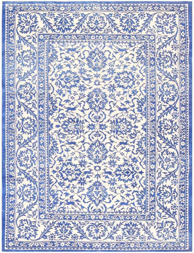 Vintage Cotton Indian Agra Rug 48375 Detail/Large View