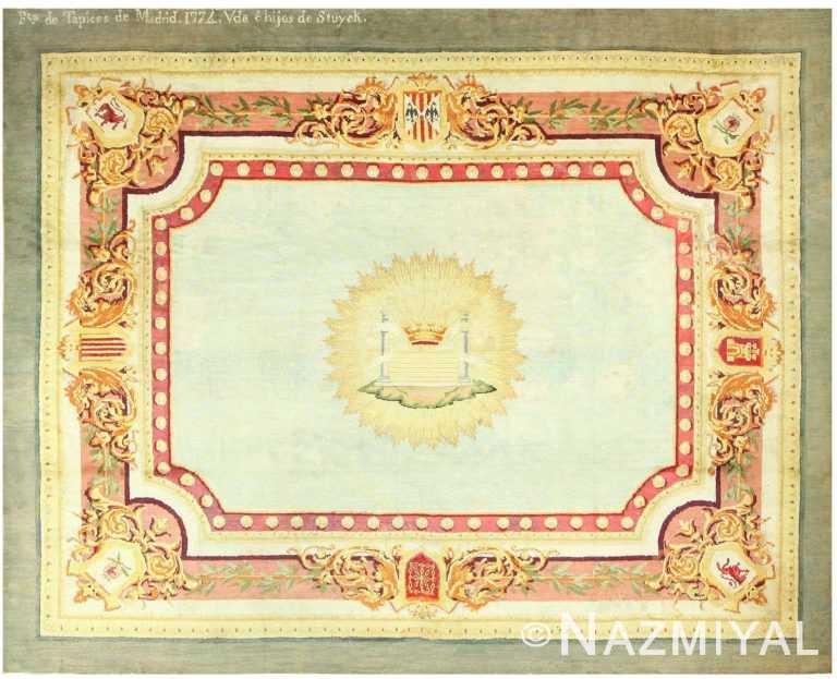 18th Century Spanish Carpet 48405 Detail/Large View