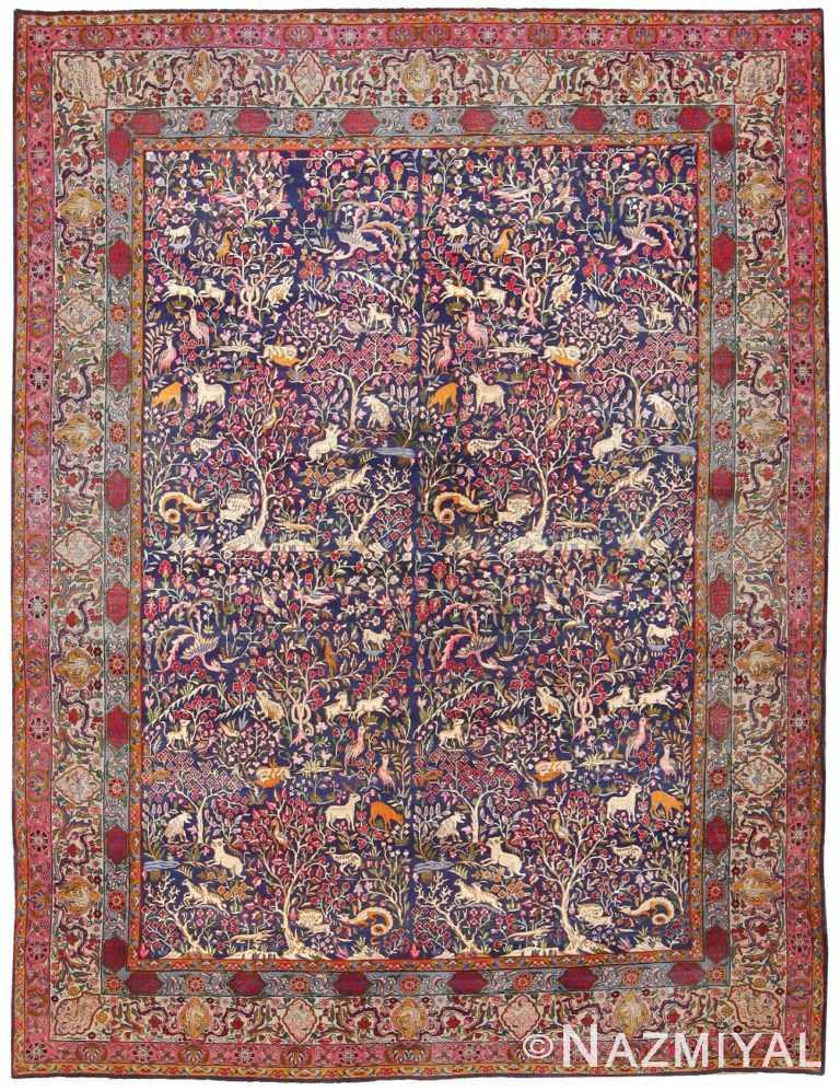 Antique Garden of Paradise Persian Carpet 48340 Detail/Large View