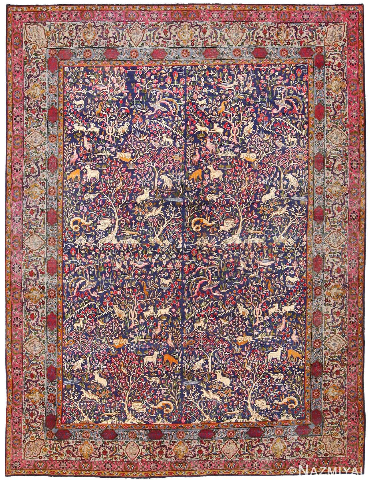 Antique Garden of Paradise Persian Carpet 48340 Detail/Large View