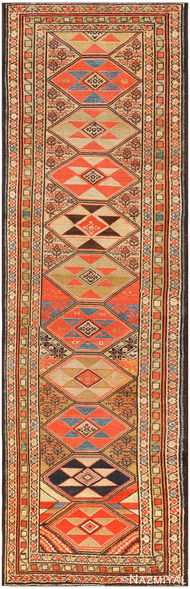 Antique Persian Malayer Runner Rug 48342 Detail/Large View