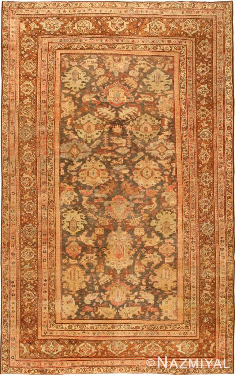 Antique Persian Earth Tone Sultanabad Area Rug #43053 by Nazmiyal Antique Rugs