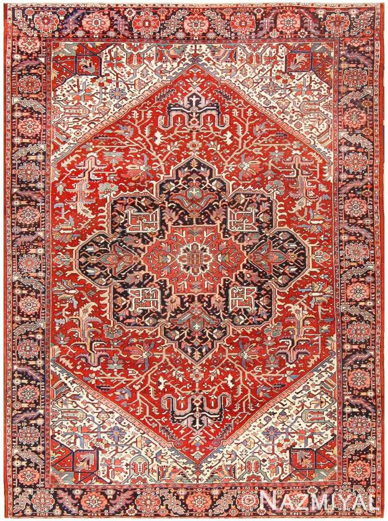 Antique Room Sized Persian Heriz Rug 48314 Detail/Large View