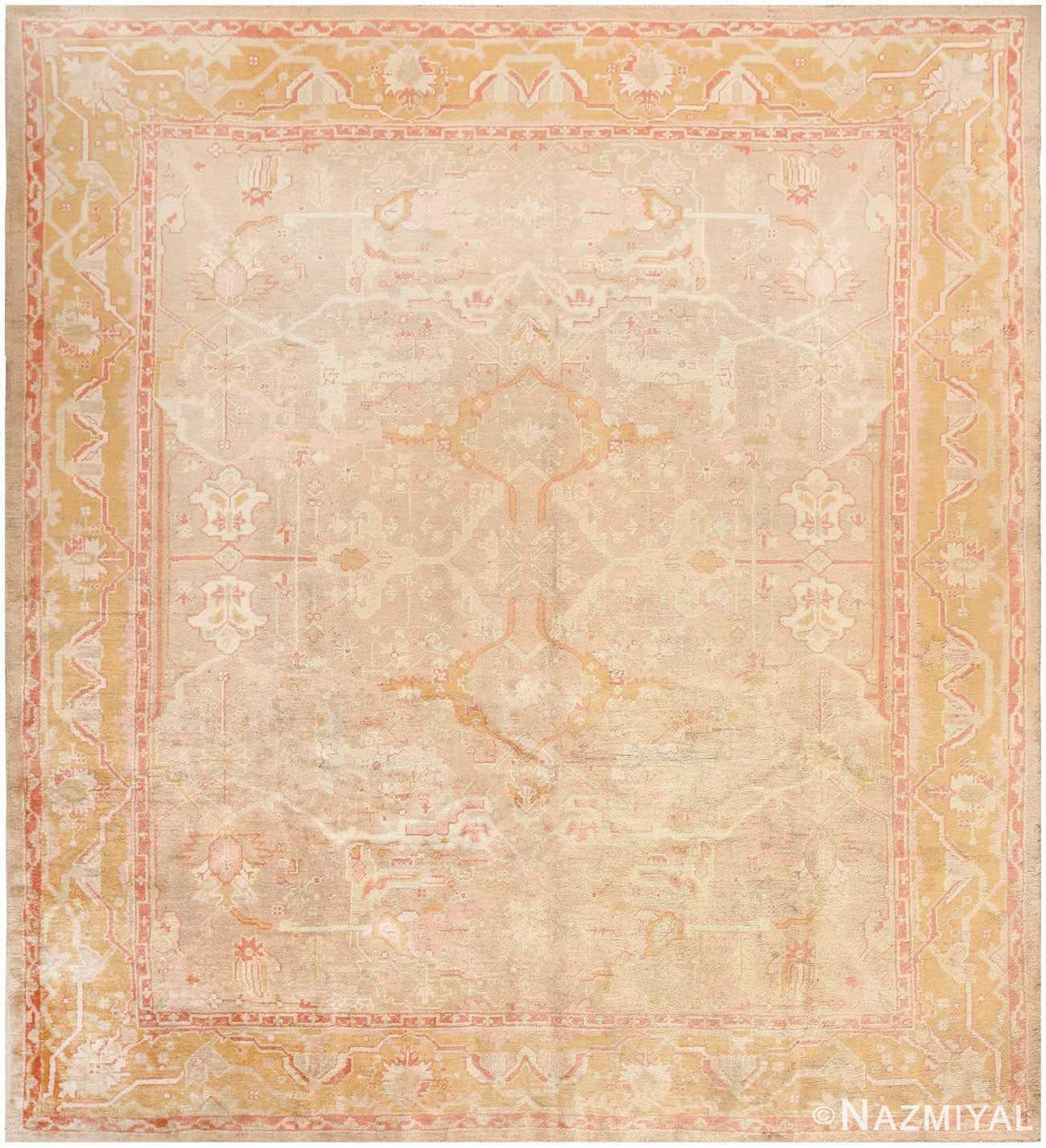 Antique Turkish Oushak Rug 48040 Detail/Large View