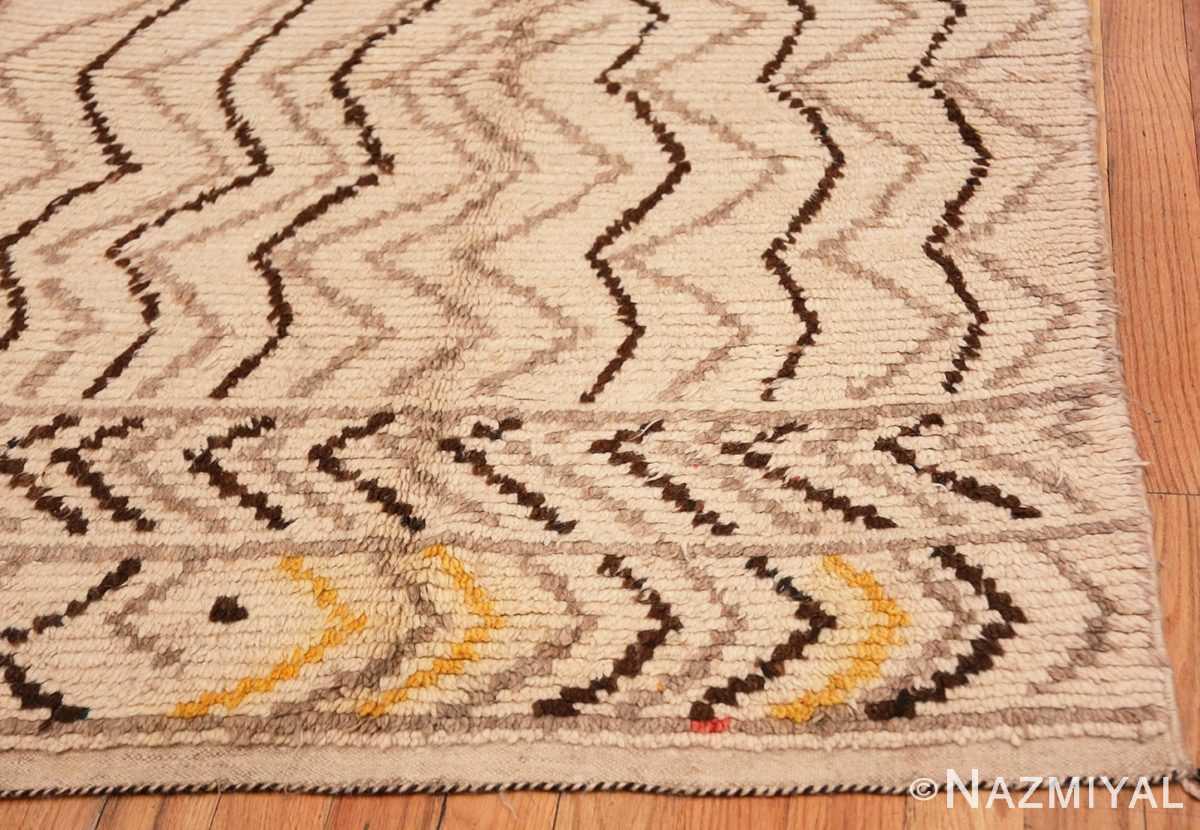 Corner Tribal Mid Century Vintage Moroccan rug 48395 by Nazmiyal