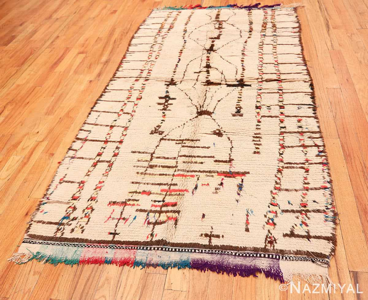 Full Mid Century Vintage Tribal Moroccan rug 48397 by Nazmiyal