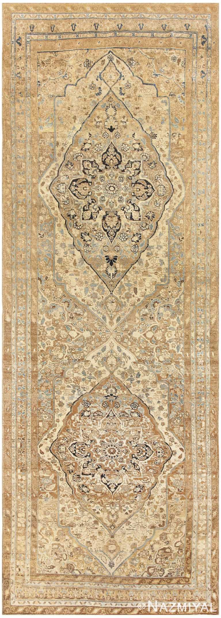 Long Vintage Persian Tabriz Rug 47398 Detail/Large View