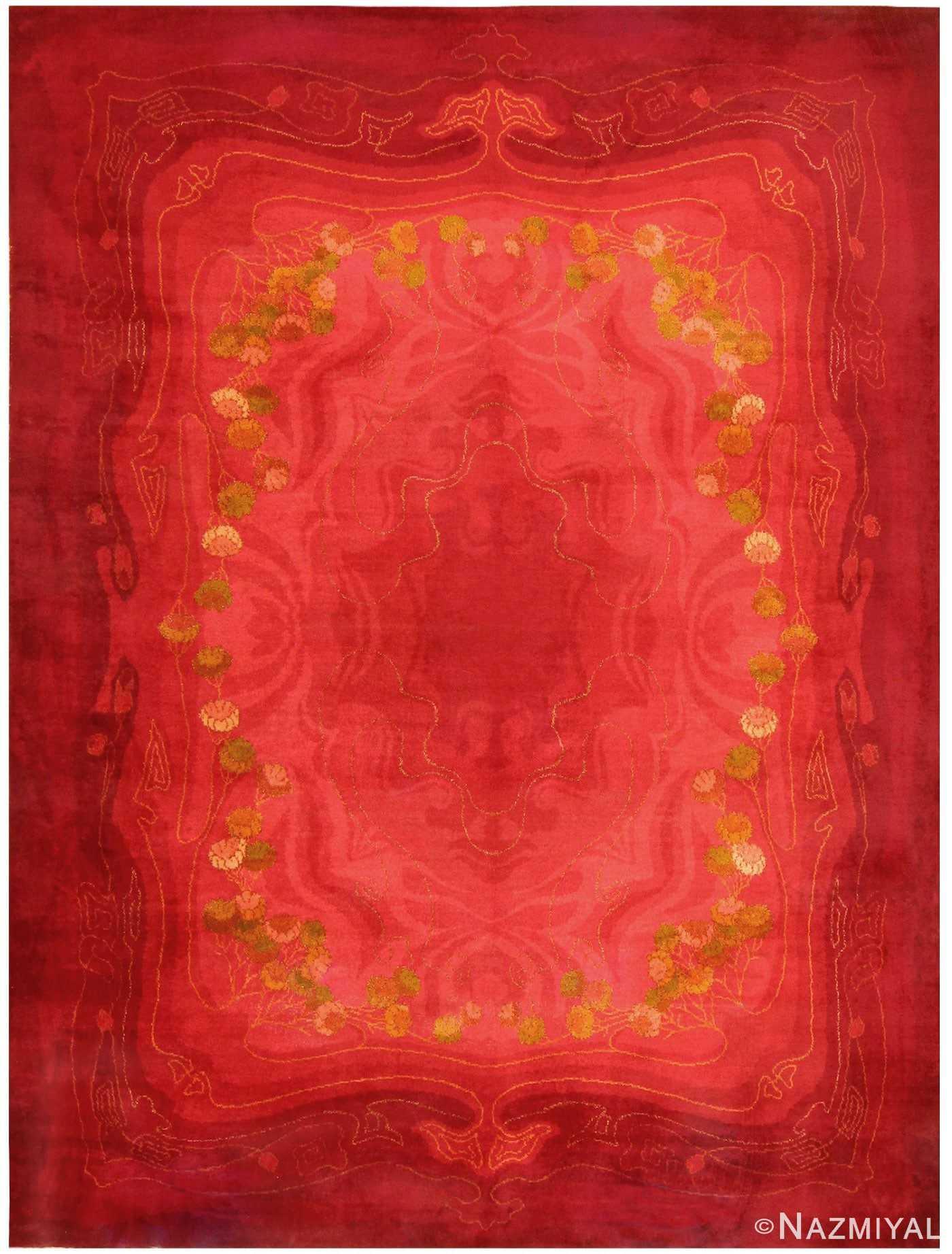 Vintage Art Nouveau Wilton Carpet 48330 Detail/Large View