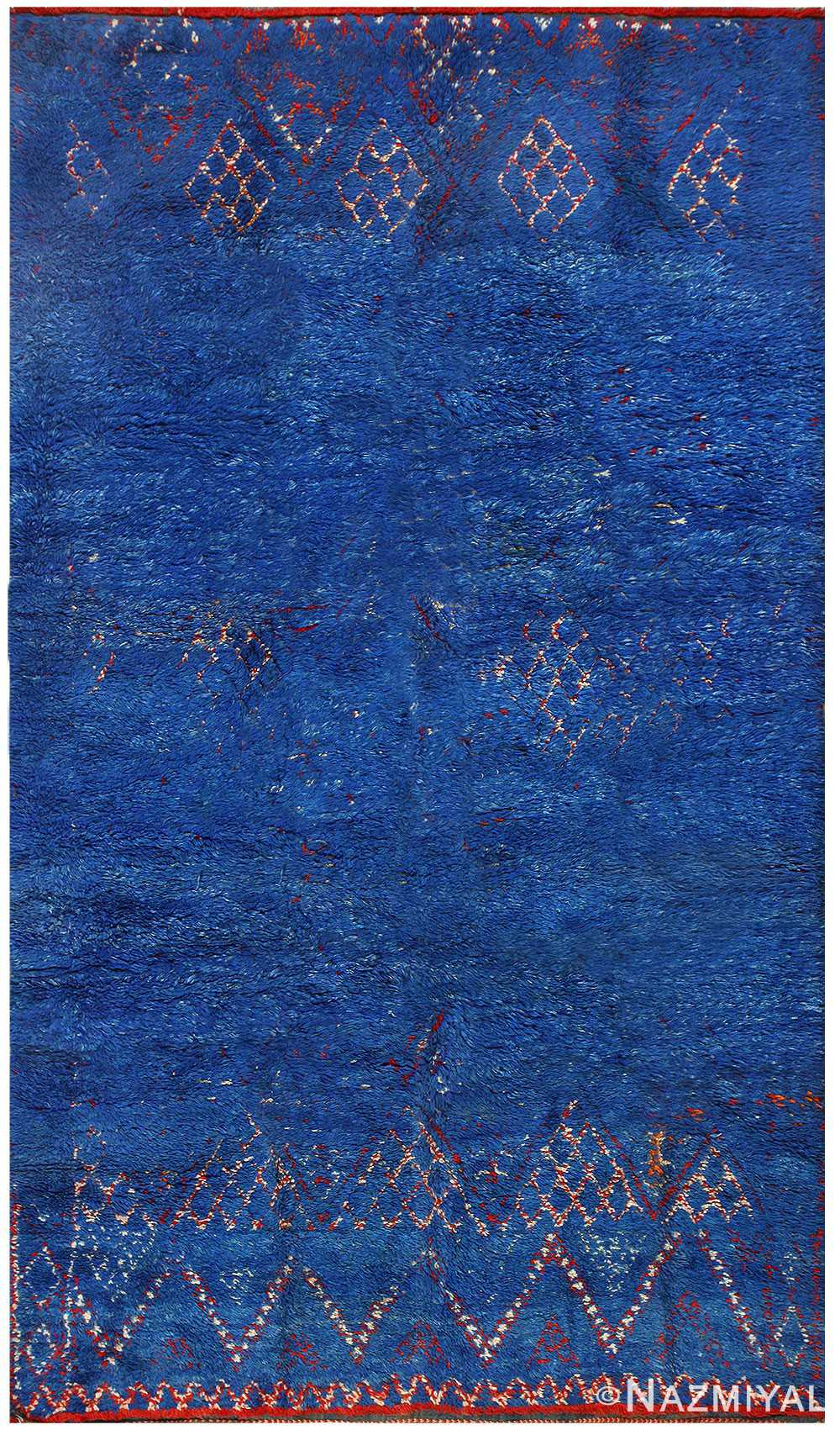 Vintage Blue Moroccan Rug 48399 Detail/Large View