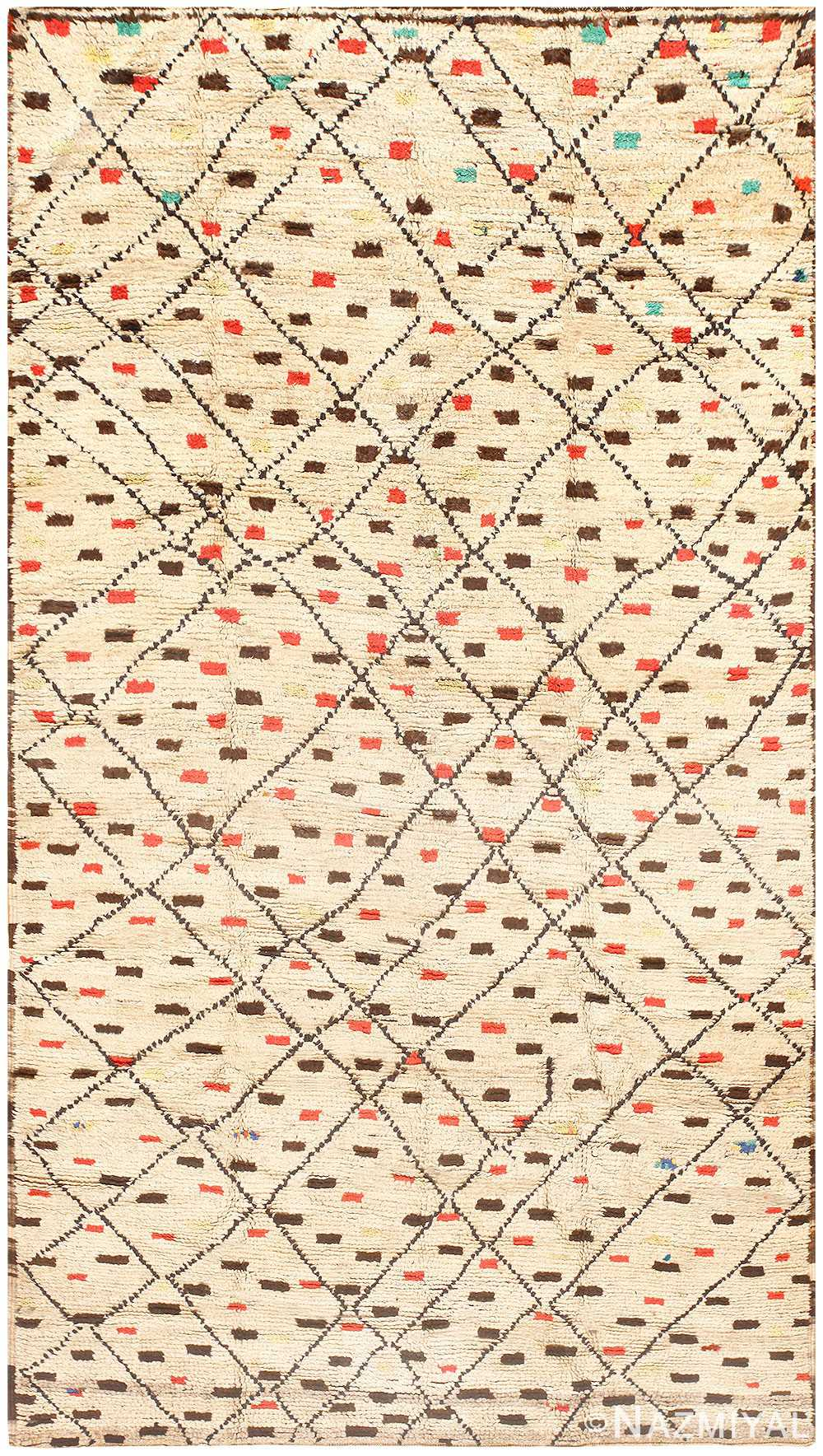 Vintage Colorful Moroccan Rug 48340 Nazmiyal