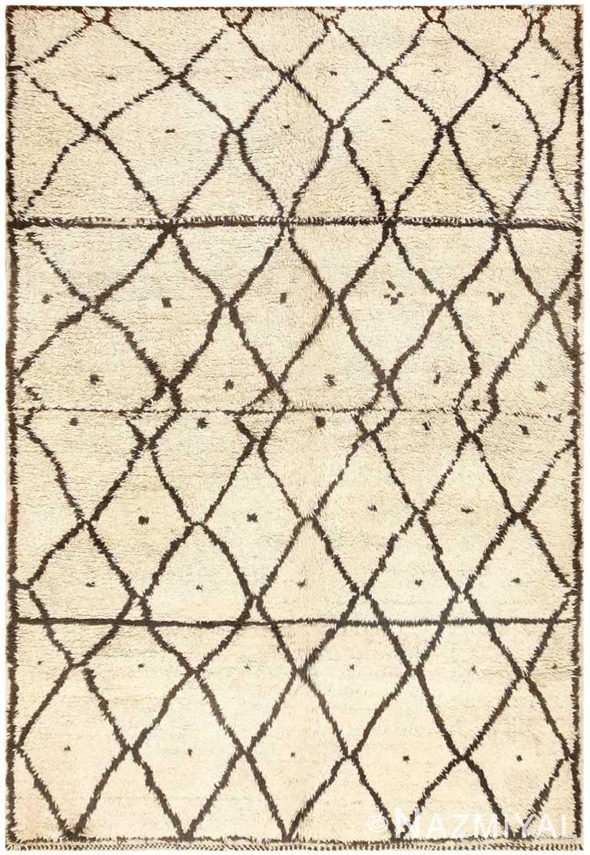 Vintage Geometric Moroccan Rug 48398 Detail/Large View
