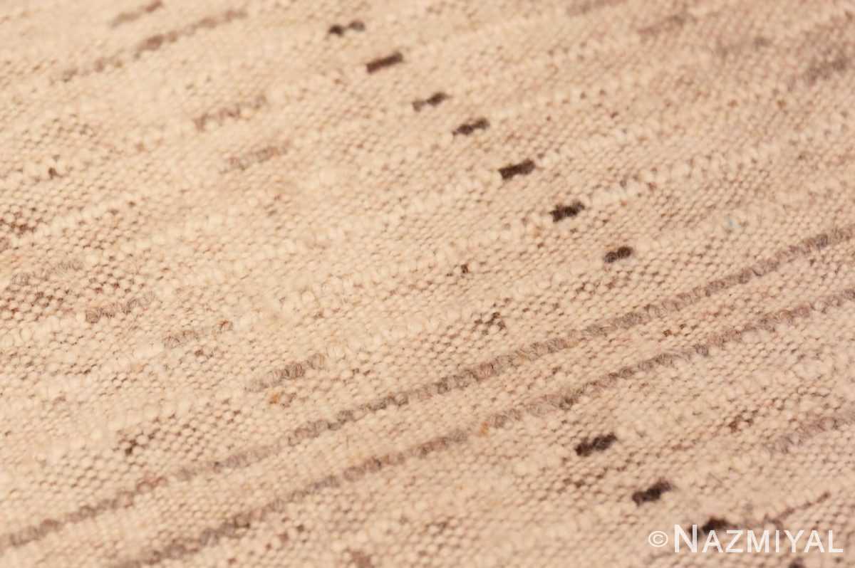 Weave detail Tribal Mid Century Vintage Moroccan rug 48395 by Nazmiyal