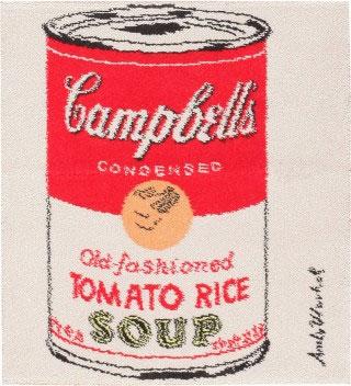 Vintage Andy Warhol Campbell Soup Rug 47694