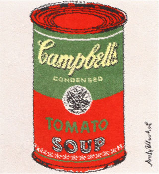 Vintage Andy Warhol Soup Can Rug 48423