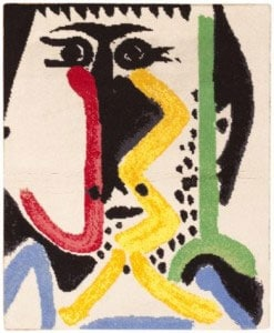 Vintage Pablo Picasso Rug 46686