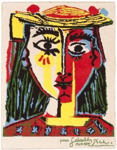 Vintage Pablo Picasso Rug 46687