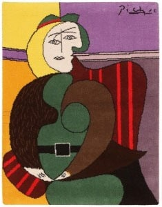 Vintage Pablo Picasso Tapestry Rug 46872