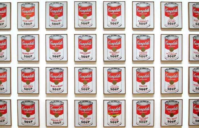Andy Warhol Soup Cans At Moma - Nazmiyal
