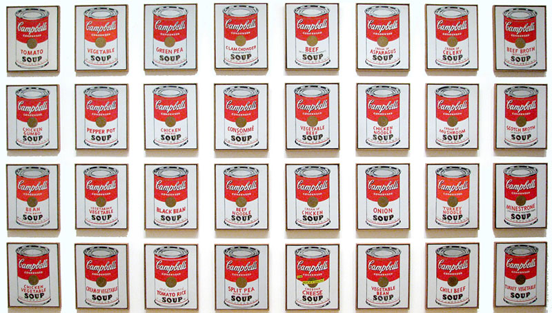 Andy Warhol Soup Cans At Moma - Nazmiyal