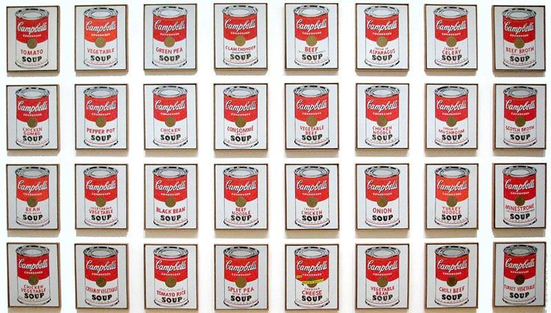 "Andy Warhol ""Soup Cans"" at MoMA"