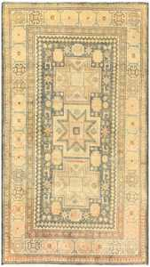 Antique Caucasian Rug with Tribal Motifs 48092 Nazmiyal