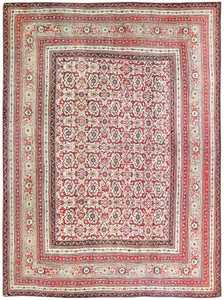 Antique Indian Agra Rug 50150 Detail/Large View