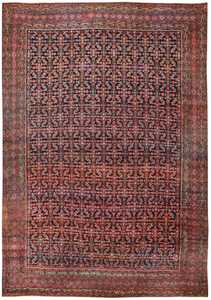 Antique Persian Farahan Rug 50076 Detail/Large View