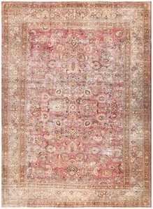Antique Shabby Chic Persian Khorassan Carpet 48297 Nazmiyal