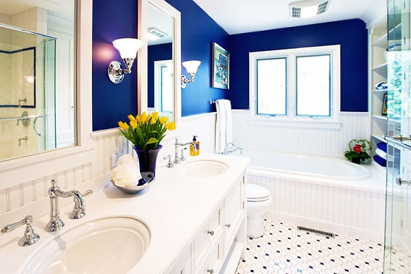 Hamptons Style Bathroom Interior Design by Nazmiyal
