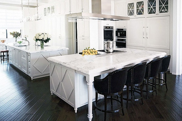 Hamptons Style Kitchen Interior Design by Nazmiyal