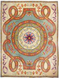 Oversized Spanish Art Deco Carpet 50065 Nazmiyal